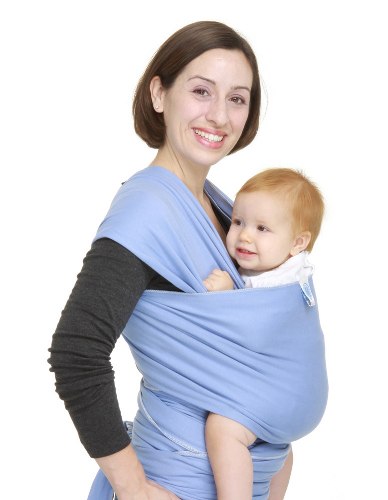 Moby Wrap Moderns Cornflower